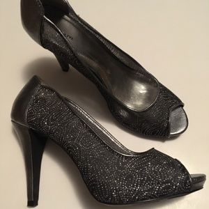 Style &Co. Silver Sheer Heels